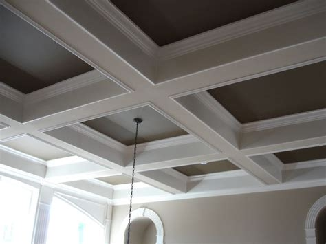 dining room coffered ceiling painting a coffered ceiling