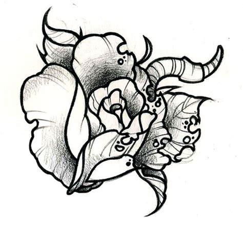 half rotten rose half rotten rose tattoo design