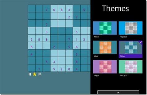 windows 8 themes of games windows 8 sudoku game app to check sudoku skills