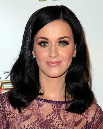 katy perry medium length wavy hair styles  black hair