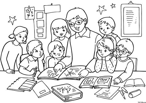 sleeping in class coloring pages coloring pages