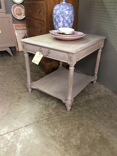 chalk painted end tables side table painted with annie sloan chalk paint in a