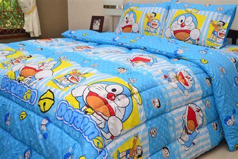 Sprei Doraemon Koboi 180x200 4 Sarung Bantal Jual Sprei Hello Doraemon Greyninsprei