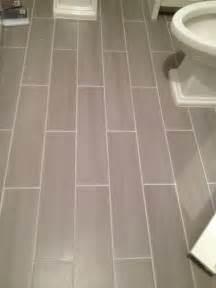 Porcelain Bathroom Floor Tiles Guest Bath Plank Style Floor Tiles In Gray Bernardy Design Designs