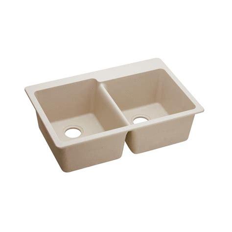 elkay quartz classic drop in composite 33 in double bowl