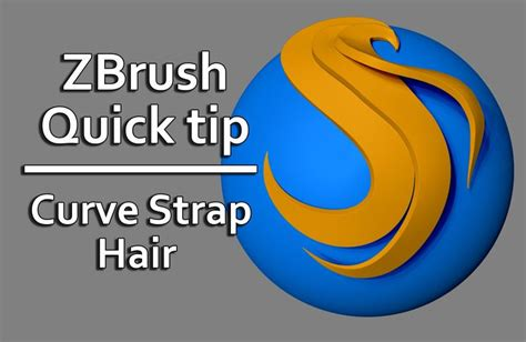 zbrush quick tutorial zbrush quick tip curve strap snap hair zbrush video