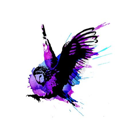 watercolor owl tattoo on behance