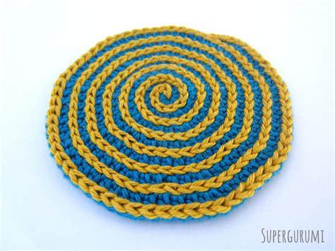 pattern crochet circle circular crochet coaster pattern supergurumi