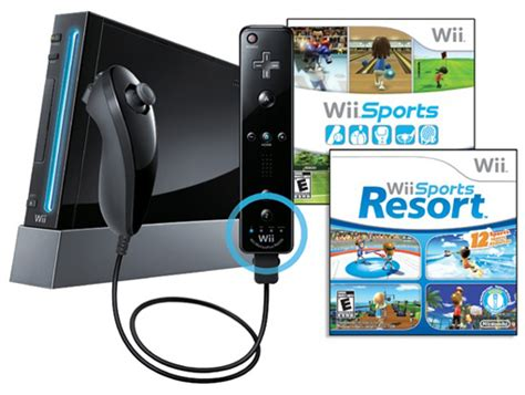 wii console sports resort bundle 99 99 refurbished nintendo wii console w wii sports