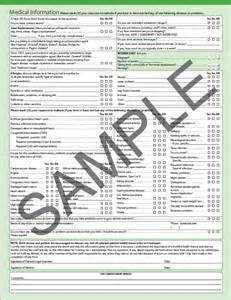 comprehensive health history template health history assessment form images