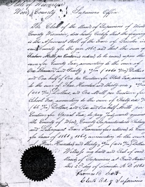 Wood County Property Records Town Of Lincoln Wood Co Wis Tax Records