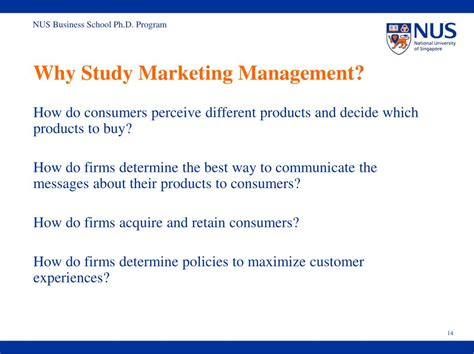 Why You Studying Mba Managemnt Questions ppt nus business school ph d program powerpoint