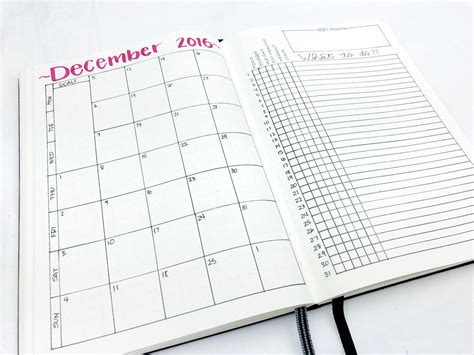 layout journal download monthly spread december 2016 download video bullet and