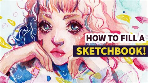 sketchbook how to fill how to fill a sketchbook watercolor speedpaint