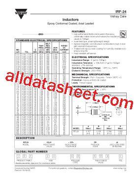 vishay inductors datasheet irf 24 datasheet pdf vishay siliconix