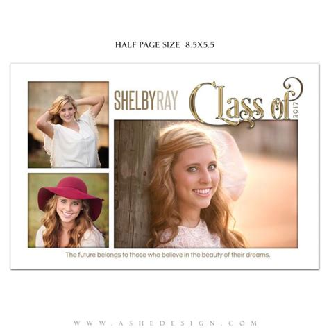 Ashe Design Senior Yearbook Ad Photoshop Templates Simply Worded Grad Ashedesign Half Page Ad Template Photoshop