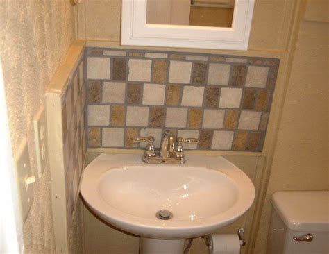 How To Put Up Backsplash In Bathroom by Pedestal Sink Backsplash Ideas Bathroom Sink Backsplash