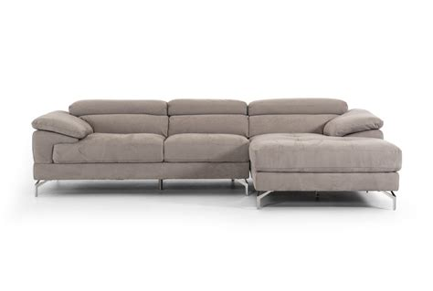 modern fabric sofa divani casa marion modern grey fabric sectional sofa