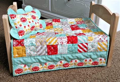 Doll Quilt Pattern by Ameroonie Designs Scalloped Border Doll Quilt