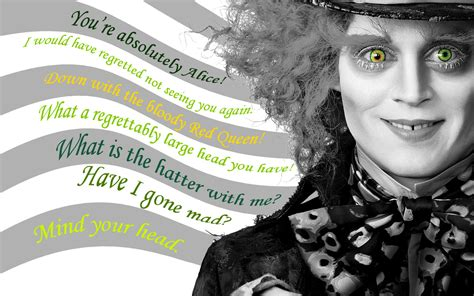 mad quotes mad hatter johnny depp images mad hatter quotes hd wallpaper and background photos