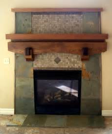Slate Fireplace Custom Slate Fireplace With Cedar Mantel Fireplaces
