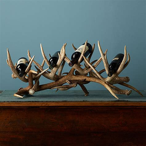 antler wine rack antler wine rack 4 bottles wine enthusiast