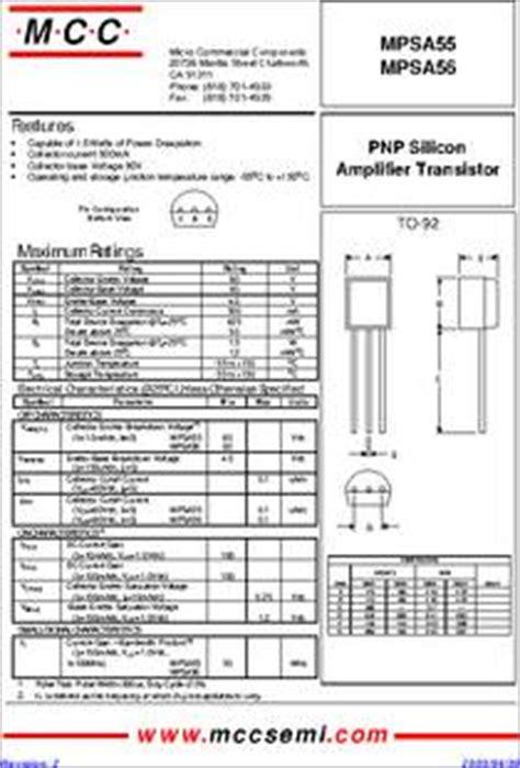 darlington transistor mpsa14 transistor equivalent mpsa56 28 images mps2222a datasheet small signal transistors npn