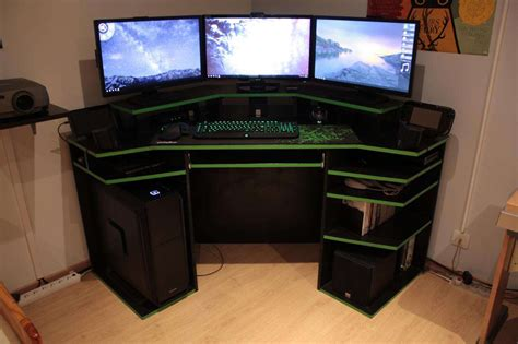 modern corner gaming computer desk inspirations design