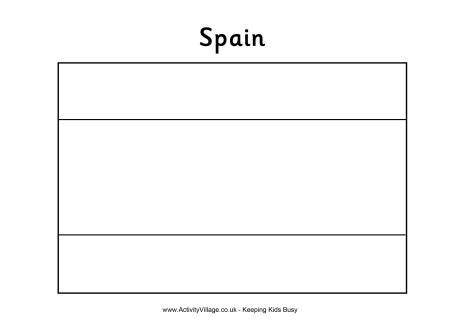 Spain Flag Colouring Page Spain Flag Template