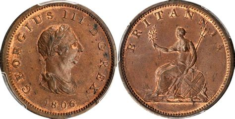values of british one penny copper coins with queen 1 2 penny 1806 united kingdom of great britain and ireland
