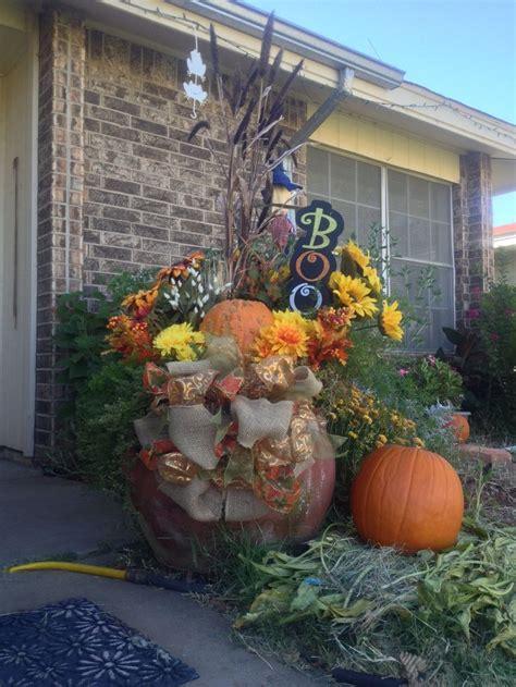 fall halloween flower pot arrangement flowers and more flowers p
