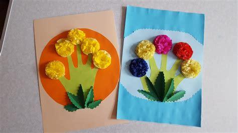 Basteln Mit Buntpapier by Kreative Blumen Basteln Mit Buntpapier