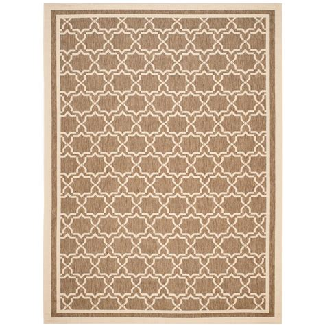 brown outdoor rug safavieh courtyard brown 8 ft x 11 ft indoor outdoor area rug cy6243 204 8 the home depot