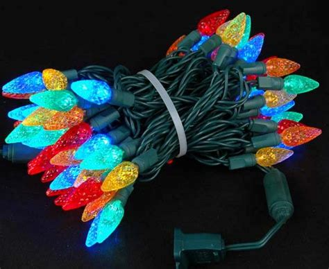 led christmas 35 lites c6 strawberry lights red color gch