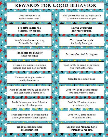 printable tickets for good behavior rewards for good behavior free printable free printable