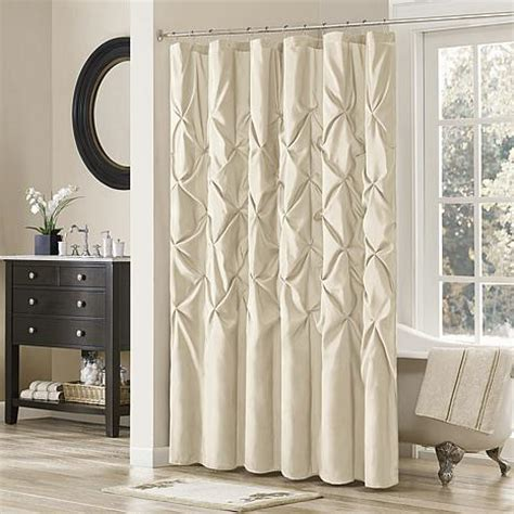 ivory shower curtains madison park vivian shower curtain ivory 7454229 hsn