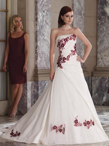 Weddings Flower Dresses by The Trend Wedding Dresses Ribbon Flowers Strapless