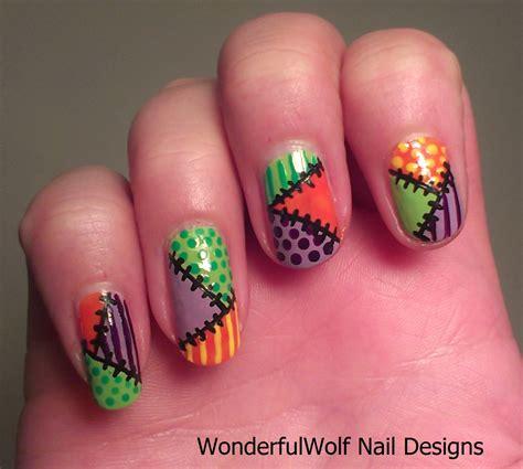 nail work patch work nail wonderfulwolf