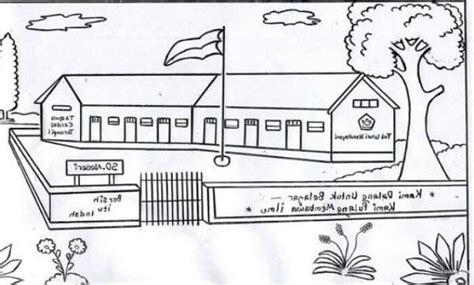 contoh gambar pemandangan kartun  referensi menggambar