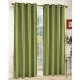 green panel curtains com 2 piece solid sage green faux silk grommet