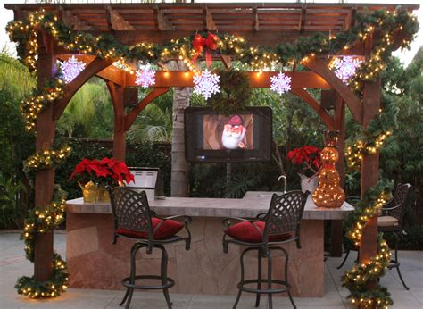 christmas backyard decorations articles