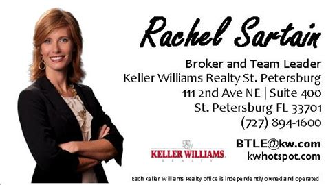 rachel sartain keller williams email real estate sales training keller williams realty st