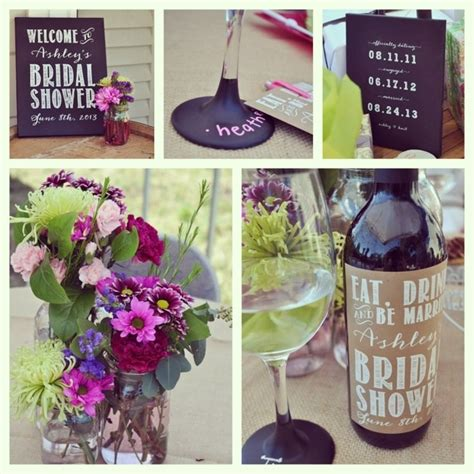 wine themed decorations wine themed bridal shower screen printed chalk boards