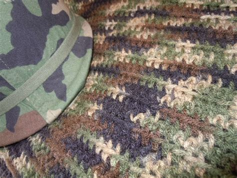 army afghan pattern camouflage army military crocheted afghan to be