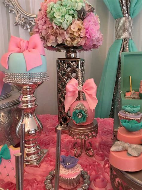teal  pink modern chic baby shower baby shower ideas themes games