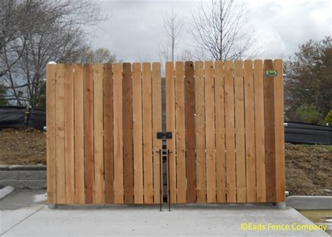 eads fence co your fence store dumpster enclosures