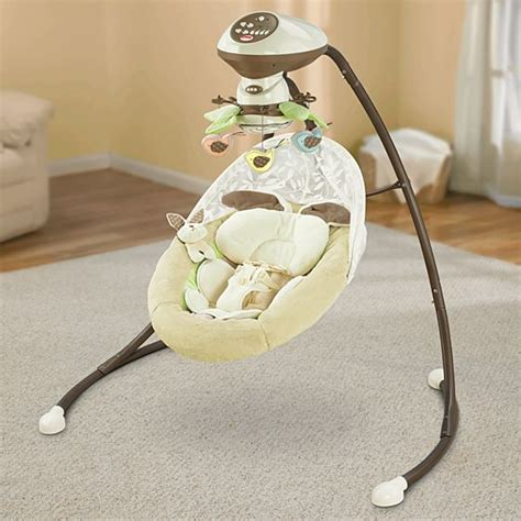 fisher price cradle swing my snugabunny cradle n swing with smart swing