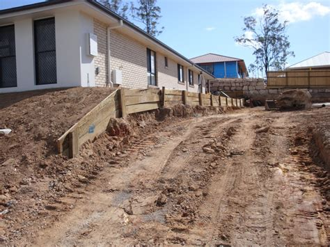 Building A Sleeper Retaining Wall by Australian Retaining Walls Concrete Sleeper Retaining Wall Augustine Heights Ipswich