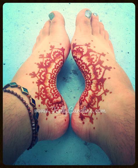 flower henna tattoos henna flower foot makedes