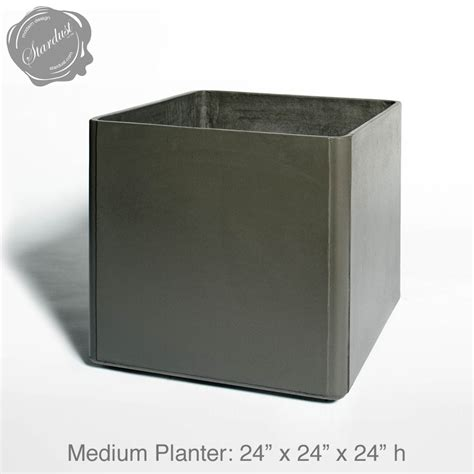 Square Planters by Mid Century Modern Pots And Planters Square Planter 24 Quot H